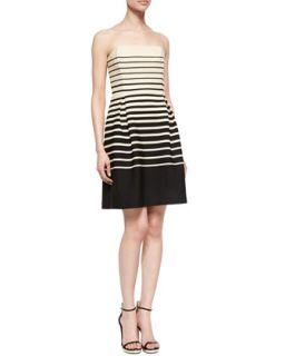 Womens Kenzie Strapless Striped Dress   Trina Turk   Natural (0)