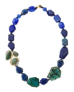 Single Strand Blue Beaded Necklace   Alexis Bittar   Blue