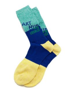 AG Swag Mens Socks, Navy/Green/Yellow   Arthur George by Robert Kardashian