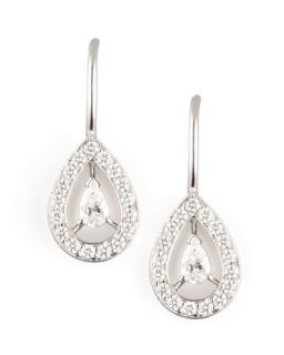 Ava 18k White Gold Diamond Pear Earrings, 1.06 TCW   Boucheron   White (18k )