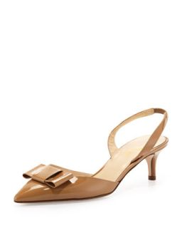 susi patent bow slingback pump, new camel   kate spade new york   New camel (39.