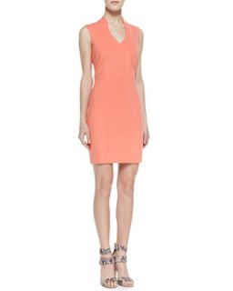 Womens Summer Ponte Sheath Dress, Coral   4.collective   Coral (6)