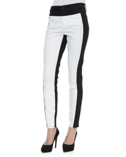 Womens Aurora Two Tone Leggings, Optic White/Black   NYDJ   Optic white/Black