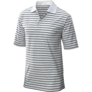 NIKE Mens UV Heather Golf Polo Shirt   Size L, White/black