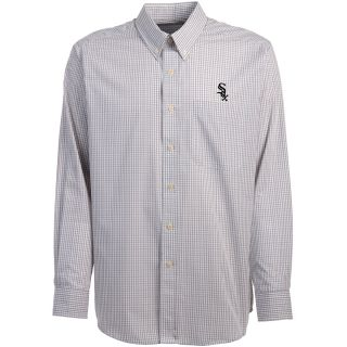 Antigua Chicago White Sox Mens Monarch Long Sleeve Dress Shirt   Size Large,