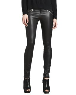 Womens Claudette Leather Pants, Black   J Brand Ready to Wear   Black (10)
