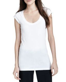 Womens Juin 2 Short Sleeve Tee, White   Theory   White (PETITE)