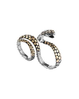 Dot Gold/Silver Knuckle Snake Ring   John Hardy   Silver/Gold (7/8)