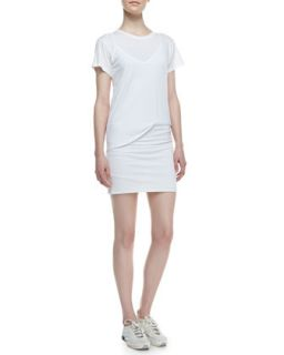 Womens Toasta Short Sleeve Tee Dress   Theory   White (LARGE)