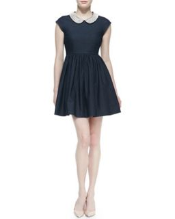 Womens kimberly denim crystal collar dress   kate spade new york   Dark blue