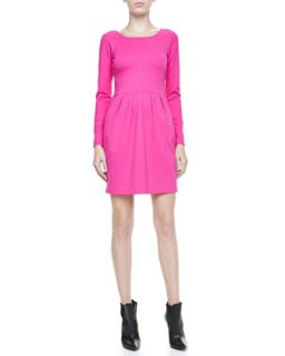 Womens Hilary Long Sleeve Knit Dress   Amanda Uprichard   Pink (PETITE)