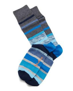 Space Dye Stripes Mens Socks, Gray/Blue   Arthur George by Robert Kardashian