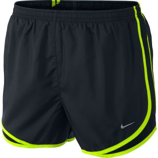 NIKE Womens Tempo Running Shorts   Size Small, Black/volt