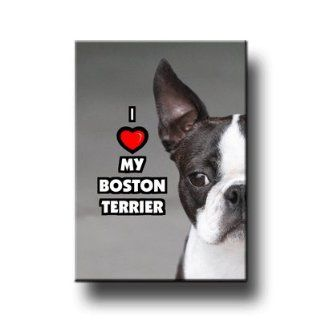 Boston Terrier I Love My Fridge Magnet  Refrigerator Magnets