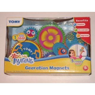 TOMY Gearation Refrigerator Magnets Building Toy Toys & Games