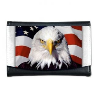 Artsmith, Inc. Mini Wallet Eagle on American Flag Clothing