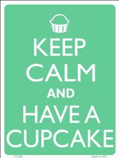 "Keep Calm and Have A Cupcake Baking Humor 9"" x 12 "" Metal Novelty Parking Sign Automotive"