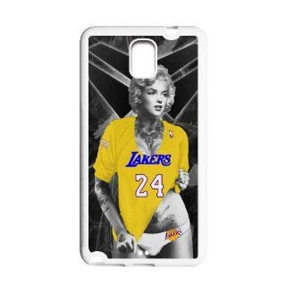 Marilyn Monroe with Los Angeles Lakers Kobe Bryant Purple shirt Case Cover for Samsung Galaxy Note 3 N900 Cell Phones & Accessories