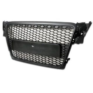 09 11 Audi A4 B8 RS Style Honeycomb Mesh Front Hood Grille Black Badgeless Design Automotive