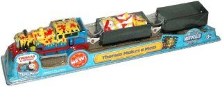 Trackmaster Road and Railway System   Thomas and Friends Motorized Road and Rail Battery Powered Tank Engine  Thomas Makes A Mess with Thomas the Tank Engine, Paint Barrel Loaded Troublesome Truck and Empty Troublesome Truck Toys & Games
