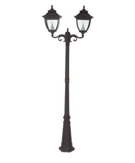 Gama Sonic Double Pagoda Solar Lamp Post   Solar Post Lights