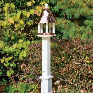 Lazy Hill Farms Polished Copper Roof Bell Bird Feeder   Bird Feeders