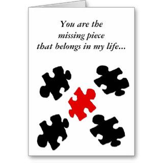 Puzzle Love Happy Valentines Day Card