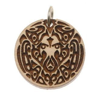 Wooden Wolf Pack Tattoo Charm Maplewood 22mm 1 Inch (1)