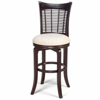 Hillsdale Bayberry 24 Inch Wicker Swivel Counter Stool   Bar Stools