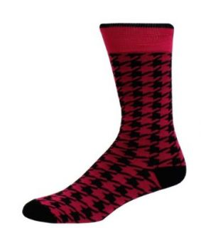 Man of Means Houndstooth Mens Dress Socks Men's Sock Color Magenta at  Men�s Clothing store