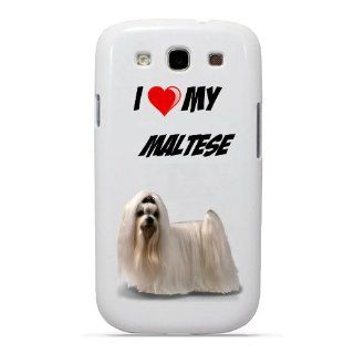 SudysAccessories I Love My Maltese Dog Samsung Galaxy S3 Case S III Case i9300   SoftShell Full Plastic Snap On Graphic Case Cell Phones & Accessories