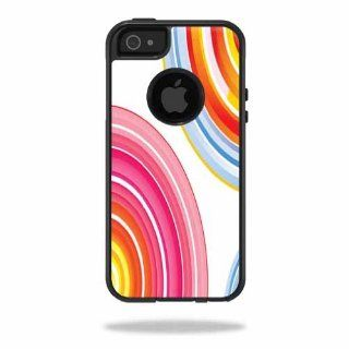 MightySkins Protective Vinyl Skin Decal Cover for OtterBox Commuter iPhone 5 / 5S Case Cell Phone Sticker Skins Lollipop Swirls Computers & Accessories