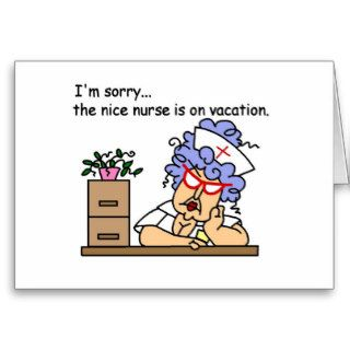 Funny Nurse T shirts and Gifts Greeting Cards
