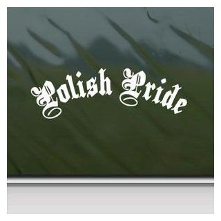 Polish Pride White Sticker Decal Car Window Wall Macbook Notebook Laptop Sticker Decal   Decorative Wall Appliques