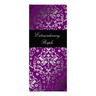 311 Dazzling Damask Extraordinary Purple Custom Invites