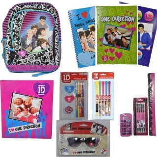 One Direction School Supplies and Back to School Set   Includes 3 Ring Binder   Backpack   Folders   Notebook   And Much More One Direction Merchandise   Perfect Gift Toys & Games