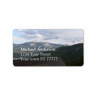 Rocky Mountain National Park Address label