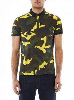 Camouflage print jersey polo shirt  Valentino  IO