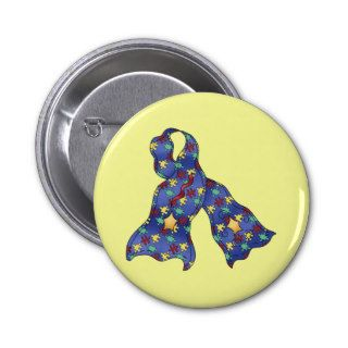 Blue Puzzle Autism Aspergers Awareness Ribbon Pins