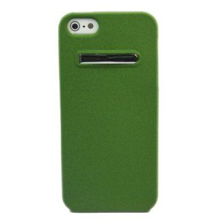 Bracket Quicksand TPU Soft Skin Case Cover for Apple iPhone 5 5G GEN Green + 1 pcs gift Cell Phones & Accessories