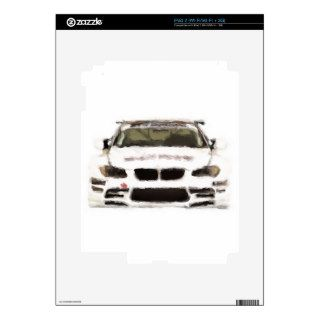 BMW M3 Racing Car Hand Painted Art Brush Template Skin For iPad 2