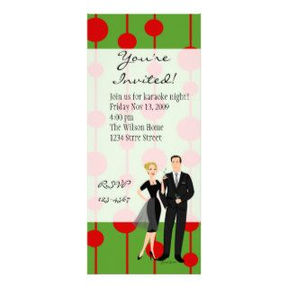 Get Your Martinis Ready  Christmas Colors Custom Invitations