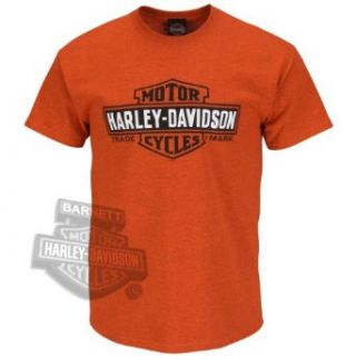 Harley Davidson Mens Helmet Necessary Orange Short Sleeve T Shirt (X Large) Clothing