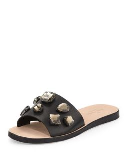 avila jeweled slide sandal, black   kate spade new york   Black (41.0B/11.0B)
