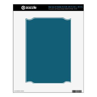 Teal Blue Background. Chic Fashion Color Trend NOOK Decal