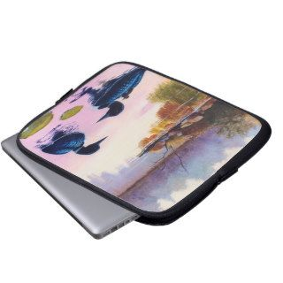 Loons At Twilight Laptop Sleeve