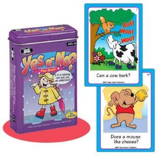 Yes or No? Fun Deck Cards   Super Duper Educational Learning Toy for Kids Toys & Games