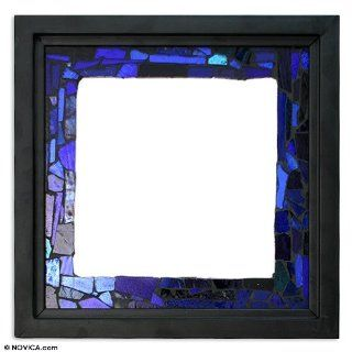 Stained glass mirror, 'Heaven'   Wall Mounted Mirrors