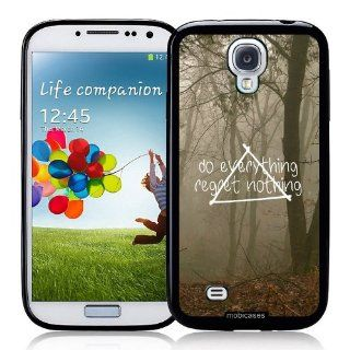 Hipster Quote   Do Everything Regret Nothing Misty Woods   Protective Designer BLACK Case   Fits Samsung Galaxy S4 i9500 Cell Phones & Accessories