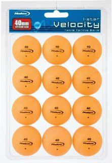 Halex Velocity 1 Star Table Tennis Ball 12 piece Value Pack (Orange) Sports & Outdoors